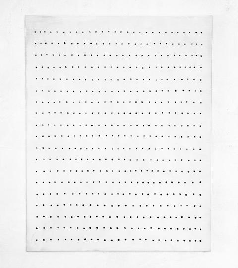 Gösta Wallmark - Stilla II, 2016, akryl på duk, 100 x 80 cm.