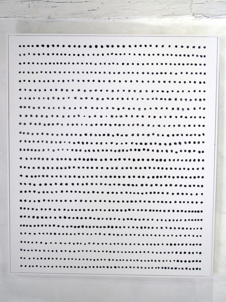 Gösta Wallmark - Hägring, 2016, akryl på duk, 96 x 80 cm.