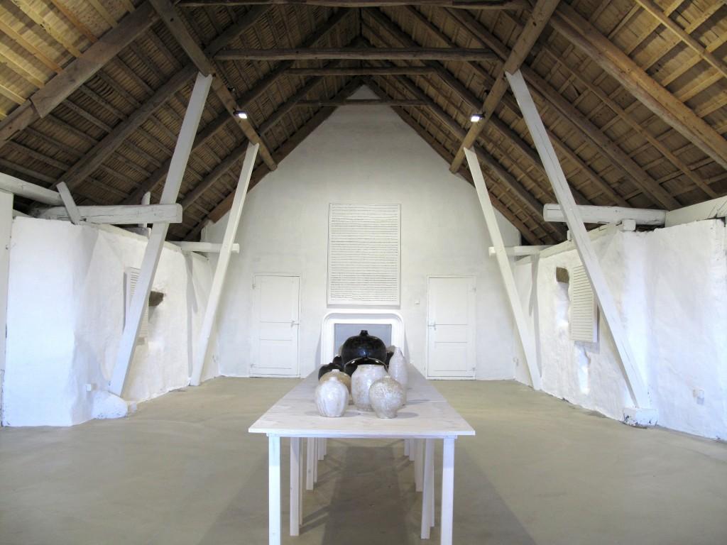 Installationsbild från utställningen med Gösta & Viveka Wallmark.