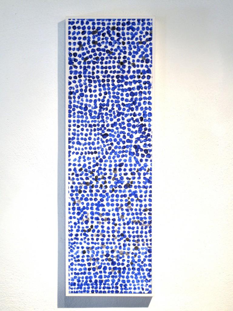 Gösta Wallmark-Utan titel 8, akryl på duk, 65 x 20 cm.