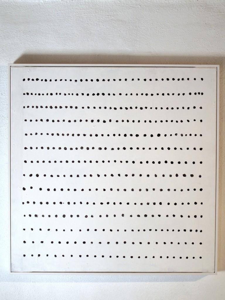 Gösta Wallmark - Vila, 2016, akryl på duk, 60 x 60 cm.