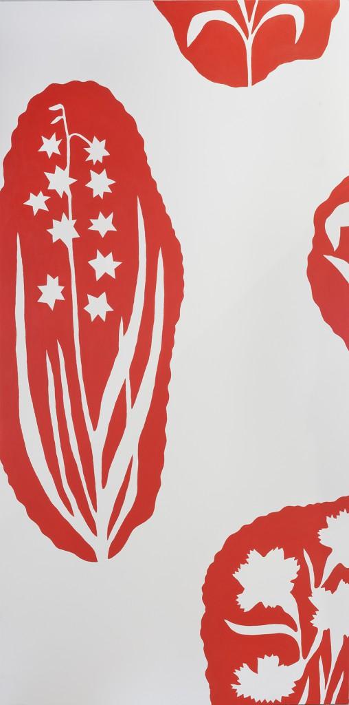 Catleya I (after Josef Frank), 2016, acrylic on Mdf, 244 x 120 cm