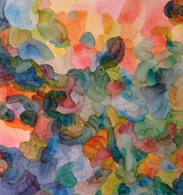 Fotosyntes 1-2016, oil on canvas, 190 x 180 cm. Pris 50000:-