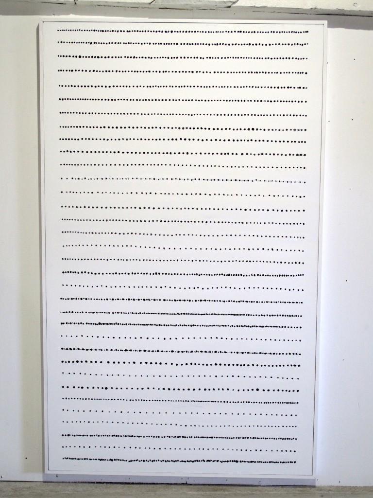 Gösta Wallmark - Horisont IV, 2016, akryl på duk, 200 x 120 cm.