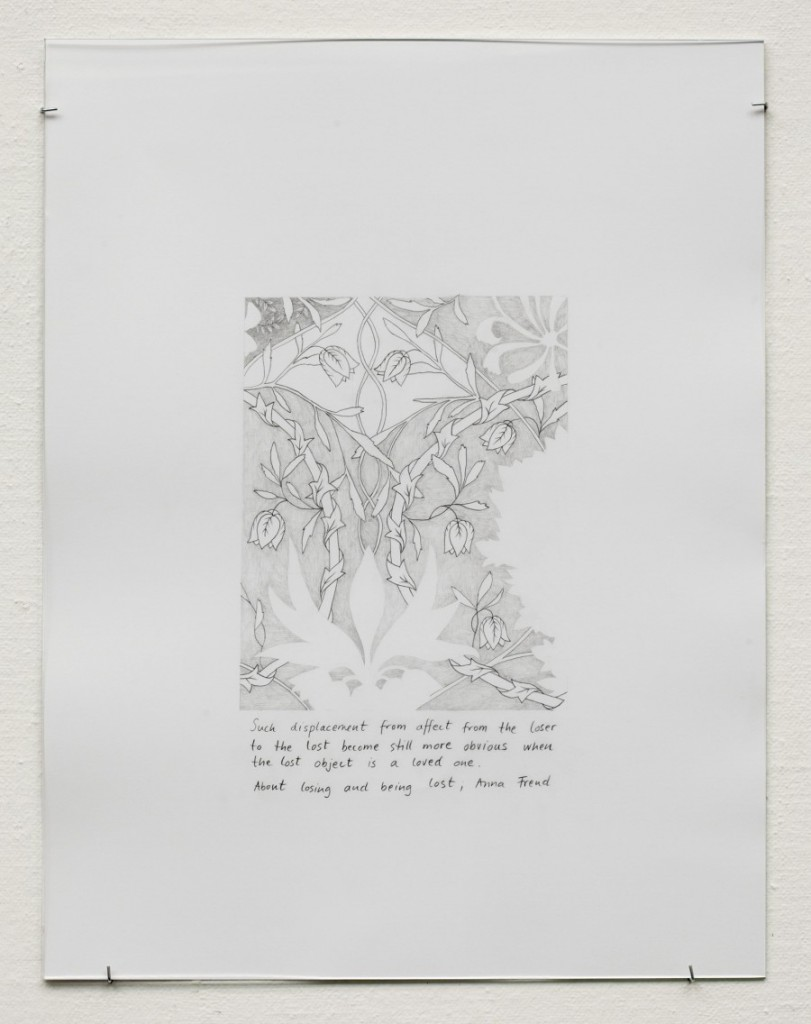 Honeysuckle (after William Morris) IV, pencil on paper, 50 x 65 cm.