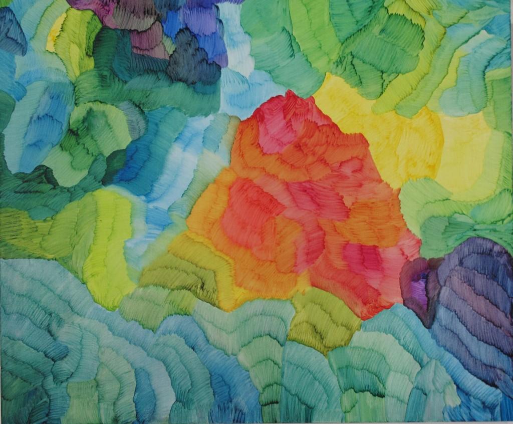 Fotosyntes 10-2017, oil on canvas, 112 x 130 cm. Pris 20000:-