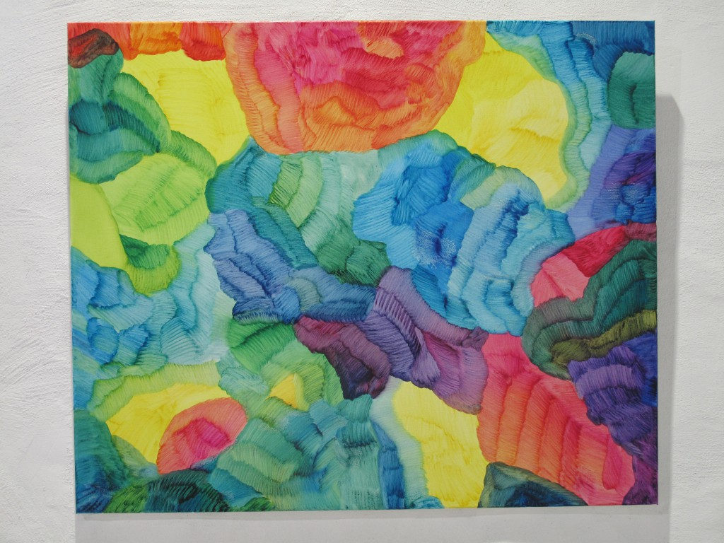 Fotosyntes 9-2017, oil on canvas, 100 x 120 cm. Pris 18000:-